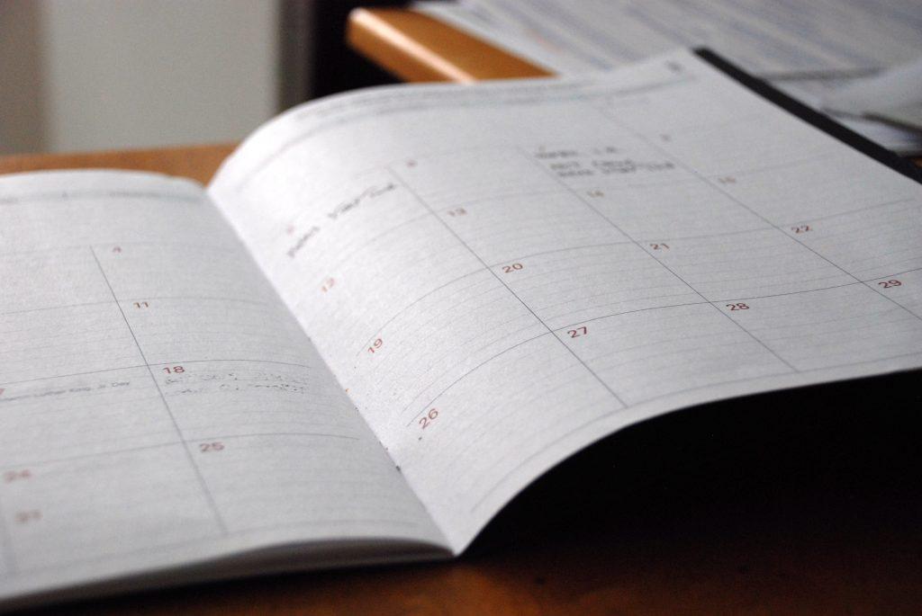 Summer Weekly Schedule