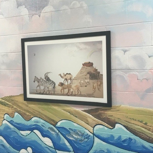 Noah print on wall