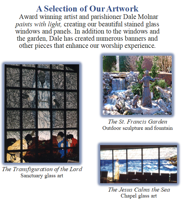 Dale Molnar Stained Glass Windows and Panels